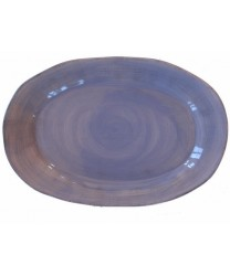 serveerschaal ovaal blauw 303AB2